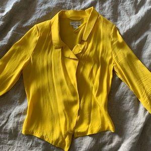 Cotton On Yellow Open Crop Blazer